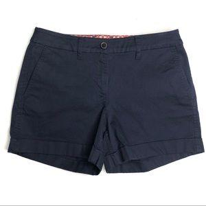 "Boden Navy Blue Chino WJ043 Cuffed 4"" Shorts US 4"